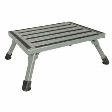 Folding Aluminium Step Stool Loads 200kg Caravan Camping Portable Ladder