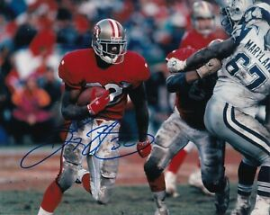 RICKY WATTERS  SAN FRANCISCO 49ERS   ACTION SIGNED 8x10