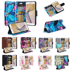 Samsung Galaxy J7 Perx, J7 Sky Pro, J7 V, J7 2017, Magnetic Wallet Case Cover