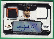 2013 Topps Museum Collection PABLO SANDOVAL AUTOGRAPH PATCH JERSEY Giants 45/50