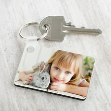 More details for personalised photo keyring any picture custom keychain double single side print