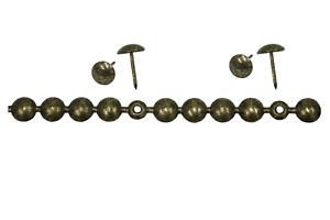 1 Meter Ziernagelstreifen silber 25 Nägel Deko  Polsternägel Restauration Möbel