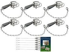 (6 Pack) Duke #1 Longspring Guard Trap Value Package with Dvd and Cable Stakes
