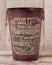 Rustic Autumn / Fall / Thanksgiving Decorative Pail / Bucket