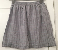 Mens Sleepwear Checked Cotton Shorts Size XL