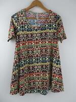 LuLaRoe Womens Paisley Floral Tribal Perfect T 2XS Shirt Unicorn Top Tee Swing
