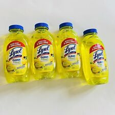(4)  Multi-Surface Cleaner 10.75 Oz Lysol Lemon/Sunflower CONCENTRATED Makes 20G