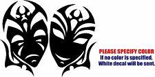 "Theatrical Mask Drama Club Graphic Die Cut decal sticker Car Truck Boat 7"""