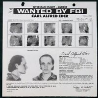 Wanted by the FBI for MURDER --  3 orig 1977-1981 Postings