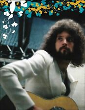 Fleetwood Mac Lindsey Buckingham with acoustic guitar vintage 8x11 pin-up photo