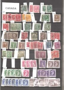 CANADA  115 STAMPS USED BETWEEN 1903 AND 1991