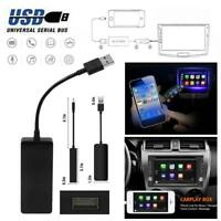 12V USB Wireless Adapter Dongle for Apple iOS CarPlay Android Car Player Black