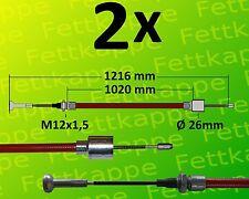 2 x ALKO Longlife Bremsseil Schnellmontage 247285 Länge: 1020mm/1216mm  Anhänger