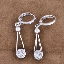 vintage long 18k hoop earrings gold filled dangle korean cute womens earings