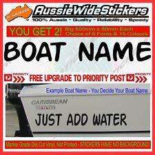 PERSONALISED CUSTOM BOAT JETSKI KAYAK NAME STICKERS Marine Grade Vinyl Lettering