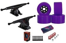 "Cal 7 Longboard 10.75"" Axle Truck Bearing 90mm Purple Skateboard Wheels"