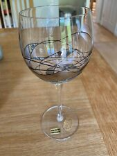 More details for set of 6 crystal wine glasses with design as seen in picture.
