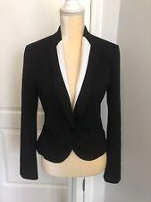 Express Black & White Short Blazer Women's Size 6 Classic Style Career NEW NWT