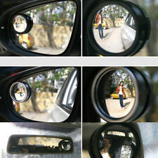 Wide Angle Convex Car Auto Blind Spot Round Stick-On Rearview Mirror Side View C