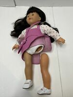 "Vintage Gotz 18"" Doll Black Hair Brown Eyes Gotz - Broken Leg"
