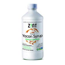 Zint Organico Sciroppo di Yacon prebiotica dolcificante 8 FL OZ 236 ml latte-free,