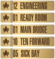 • STAR TREK • SET OF ~5~ LCARS PROP DOOR DECALS • USS ENTERPRISE NCC-1701-E •