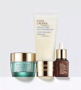 Estee Lauder 3pc Set, NightWear, Advanced Night Repair, Cleansing Detox + Renew