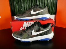 Nike Roshe G Tour NRG Olive Royal Blue Camo Golf Shoes BQ4813-201 Size 7-7.5