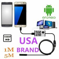 7mm Android Endoscope Waterproof Snake Borescope USB Inspection Camera 6 LED CH