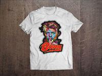David Bowie Men White T-shirt Rock Tee Shirt Ziggy Stardust Sizes S M L XL XXL 1