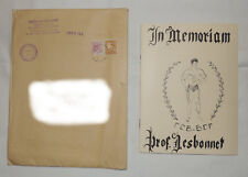In mémorial professeur Edmond Desbonnet - Vintage Bodybuilding 1954
