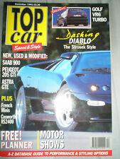 Top Car Dec 1992 Strosek Diablo, VW Golf VR6 Turbo, Astra GTE MKII