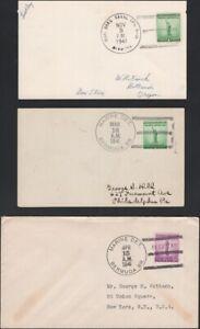 U.S., 1941. Covers/Card WWII Marine Detachment. Bermuda Br./Barracks  (3)
