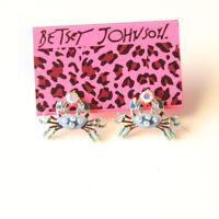 New Betsey Johnson Enamel Crab Stud Earrings Gift Fashion Women Party Jewelry