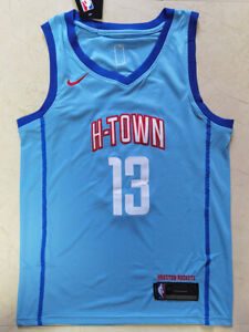 2021 New Temporada Brooklyn Nets 13# Juvenil Soul Swingman Jersey Camisas Deportivas Impresas sin Mangas sin Mangas S-XXL James Harden Blue City Edition Jersey