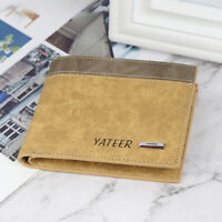 Mens Slim Leather Bifold Credit ID Card Holder Wallet Billfold Purse Clutch -PN