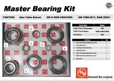 Chevy Gm 1998UP 2500 3500 9.25 IFS Differential Master Bearing Seal Kit 74067005