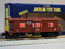 LIONEL AMERICAN FLYER S GAUGE NYC BAY WINDOW CABOOSE 2 rail train 6-47970 NEW