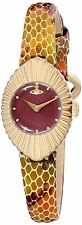 VIvienne Westwood 'Concertina' deep red dial Time Machine watch VV096RDPP