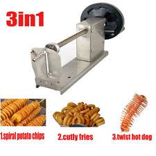 Commercial Manual Curly Fries Twister Hotdog Spiral Tornado Potato Cutter Slicer