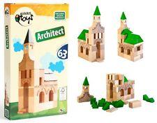 Costruzioni in legno naturale Architect Varis Toys 63 pezzi made in Lettonia