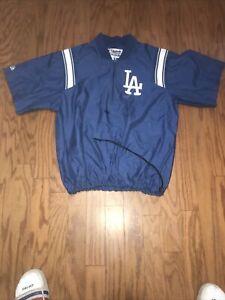 LA Dodgers  Majestic Blue Cage Jacket Size Large