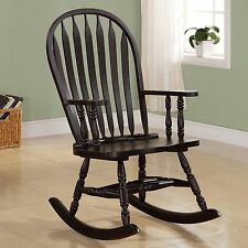 Transitional Wood Rocking Chair Cappuccino Finish by Coaster 600186 Living Room