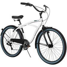 Huffy 26-inch Men's Lockland 7-Speed Cruiser Bike, White