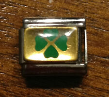 ITALIAN CHARMS FOUR LEAF CLOVER D'LINQ BRAND 9MM MODULAR NEW
