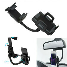 Car Rearview Mirror Phone Multi Holder Fixing Clip Bracket Voiture Stand Black