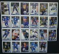 1991-92 O-Pee-Chee OPC Buffalo Sabres Team Set of 23 Hockey Cards