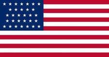 5x8 ft 31 Star United States Flag 1851-1858 APPLIQUE STARS Sewn Stripes USA Made