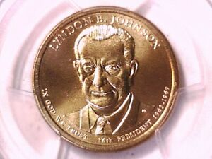 2015 P Lyndon B. Johnson Presidential Dollar PCGS MS 67 Position A 32498385