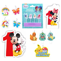 Paw Patrol Mickey Minnie Pokemon Kids Birthday Cake Candle Party Decorations